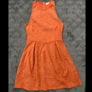 Orange Suede Altard State Dress